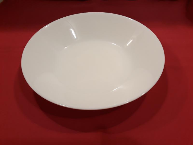 MAIA fehér üveg mélytányér, 20,3 cm,