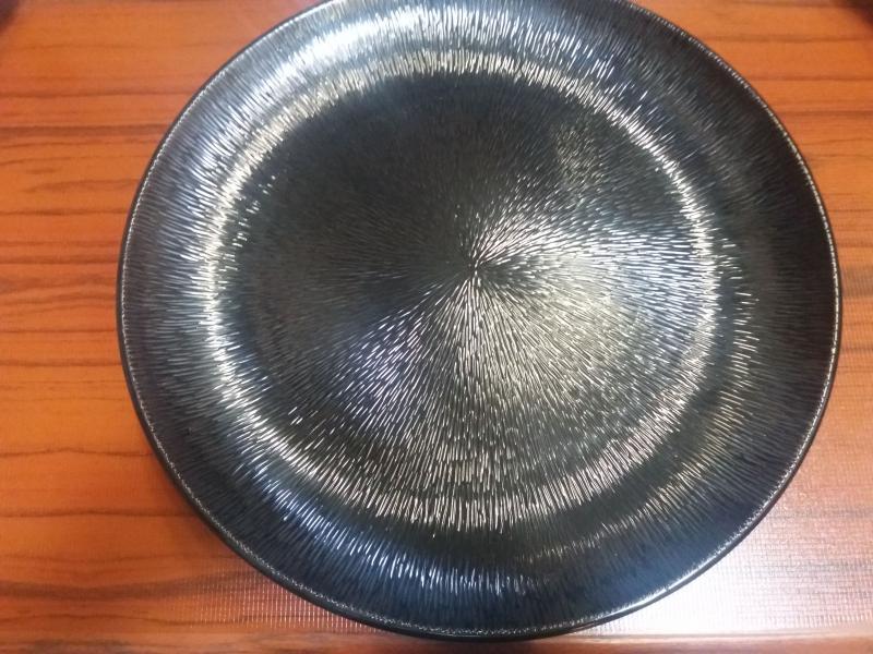 Melamin kerek tányér, fekete, 40 cm, 288011