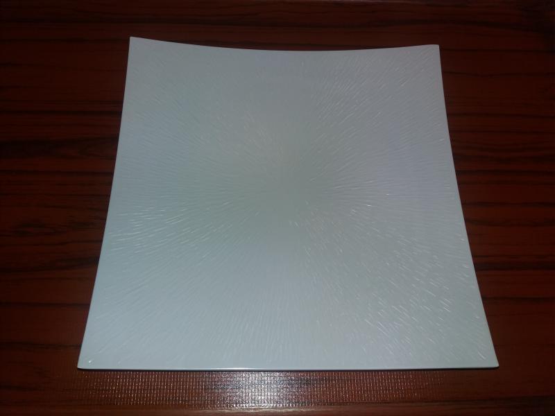 Melamin szögletes tányér, fehér, 31X31 cm, 288008