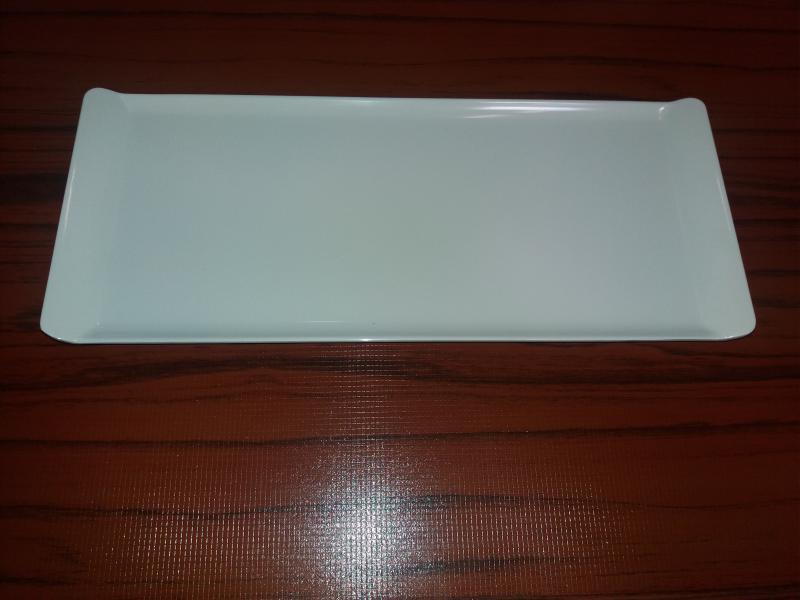 Melamin szögletes tányér, fehér, 38X16 cm, 288012