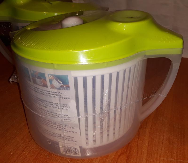 Meliconi salátacentrifuga, salátamosó, műanyag, 4,3 liter, 142035