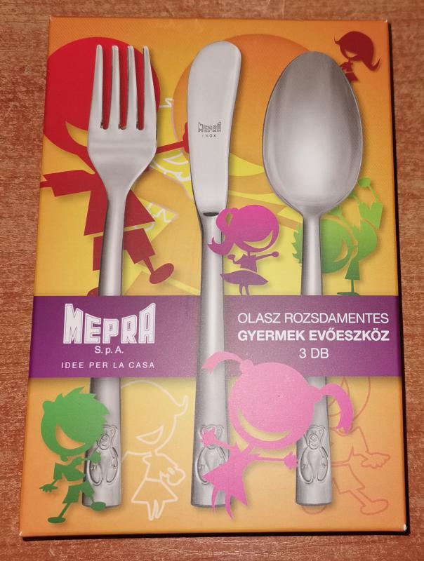 MEPRA LORENA rorzsdamentes gyermek evőeszköz (3 db-os), 106644