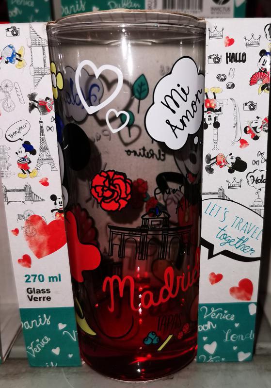 """Mickey-Minnie """"Hola Madrid"""" üdítős-vizes pohár, 27 cl, 1 db"""