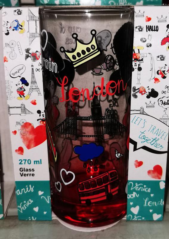 "Mickey-Minnie ""I love London"" üdítős-vizes pohár, 27 cl, 1 db"