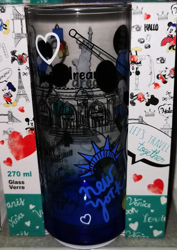 """Mickey-Minnie """"my dream New York"""" üdítős-vizes pohár, 27 cl, 1 db"""
