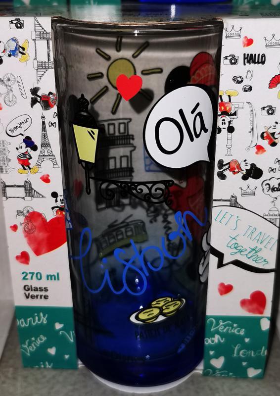 """Mickey-Minnie """"Olá Lisbon"""" üdítős-vizes pohár, 27 cl, 1 db"""
