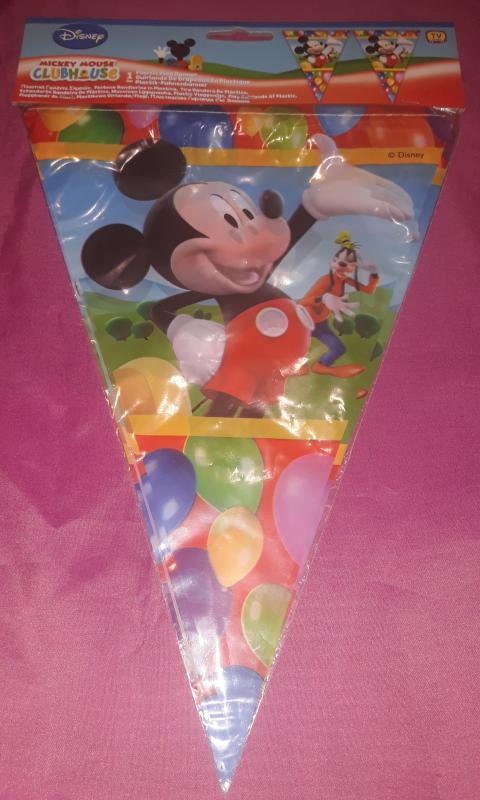 Mickey Mouse születésnapi parti zászló, 3 m