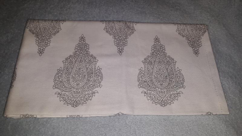 Pamut konyharuha, fehér-szürke tölcsérvirág/levél, P021