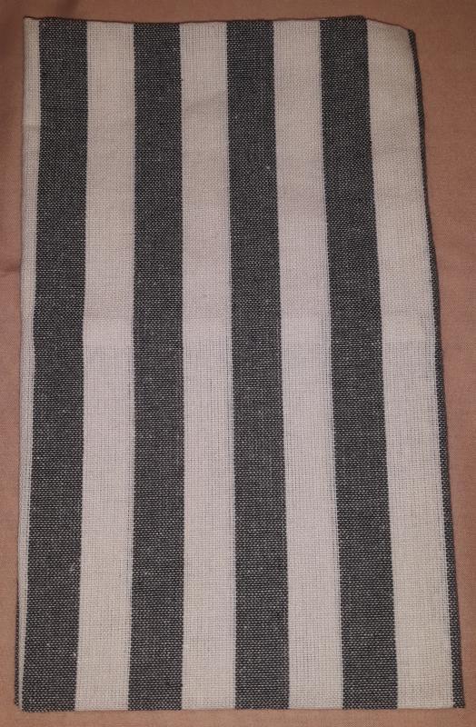 Pamut konyharuha, szürke-széles csíkos, 50X70 cm, P024