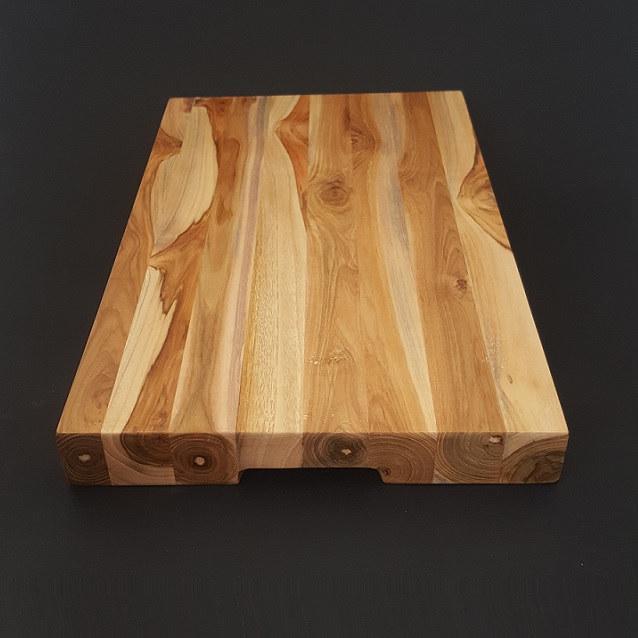 Parawood fa tőkevágó blokk, fogós, 45X26,3X4 cm, 210096