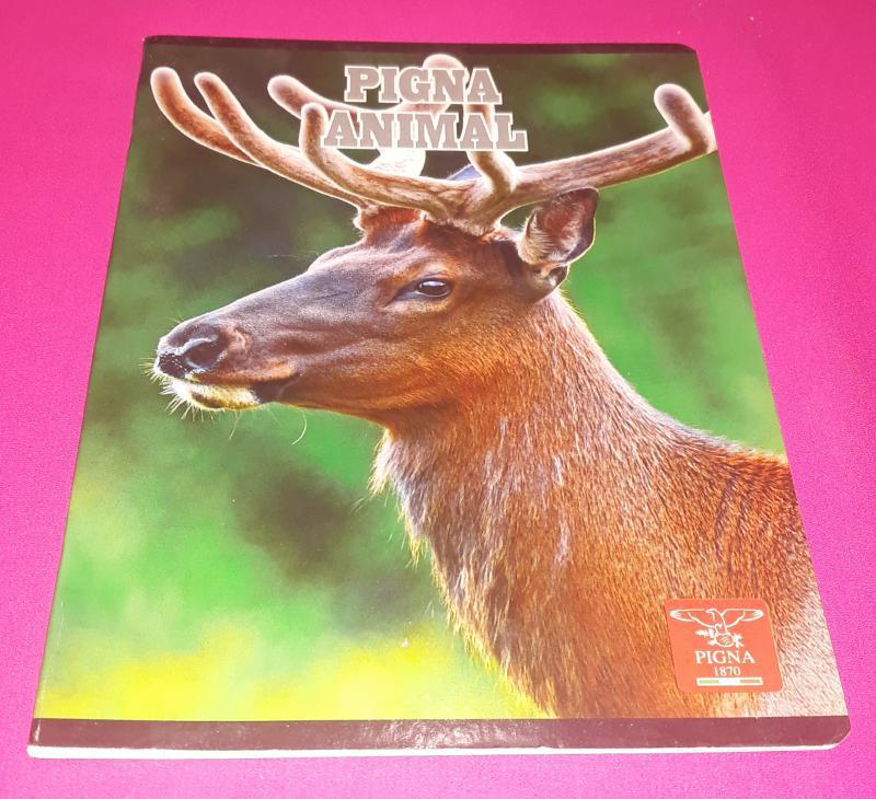 Pigna Animal Deer (szarvas) kisalakú négyzetrácsos füzet margóval, 32 lapos