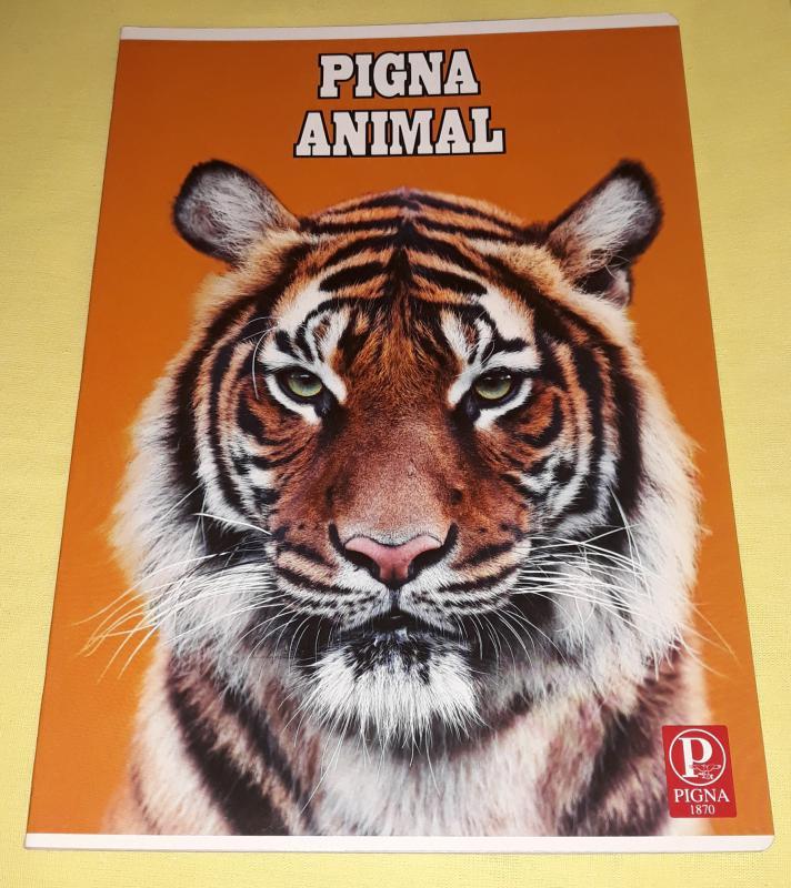 Pigna Animal nagyalakú vonalas füzet, 32 lapos, tigrises