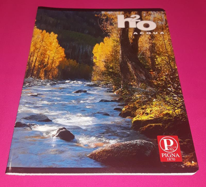 Pigna H2O Acqua kisalakú sima füzet, 32 lapos ( őszi fák+patak)