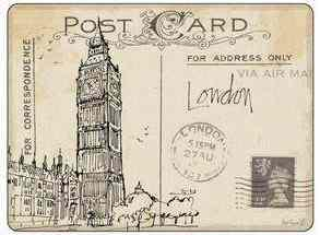 Pimpernel parafa alátét, postcards London, 40x30 cm, 1 db