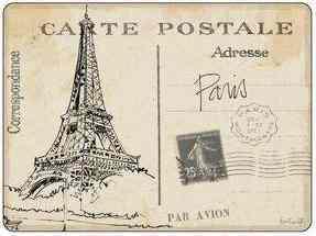 Pimpernel parafa alátét, postcards Paris, 40x30 cm, 1 db