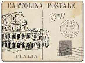 Pimpernel parafa alátét, postcards Rome, 40x30 cm, 1 db