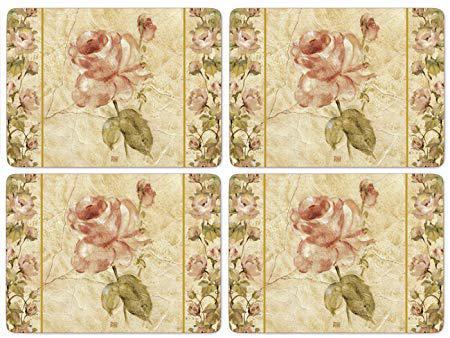 Pimpernel parafa tányéralátét, 4 db, 30X40 cm, Antique Rose Linen