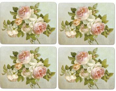 Pimpernel parafa tányéralátét, Antique Rose,  40X30 cm, 4 db, 319002