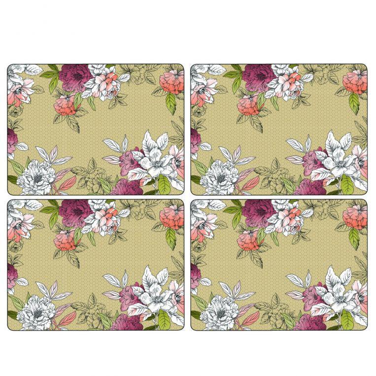 Pimpernel parafa tányéralátét, Floral sketch , 40X30 cm, 4 db, 319002
