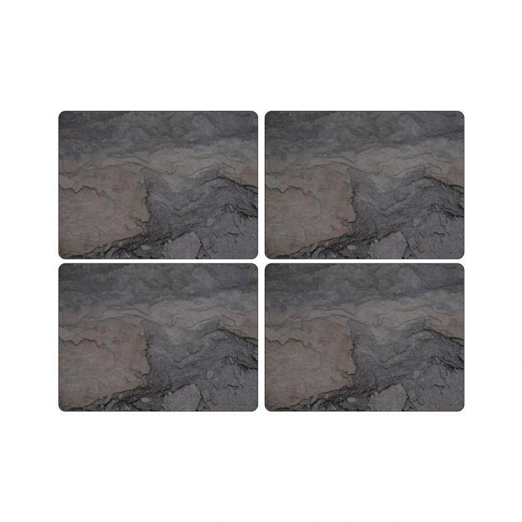 Pimpernel parafa tányéralátét, Midnight slate 40x30 cm, 4 db, 319002