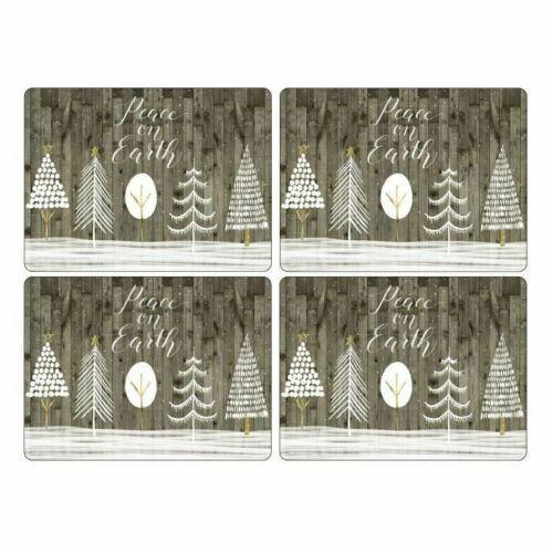 Pimpernel parafa tányéralátét, White Christmas, 40X30 cm, 4 db, 319002