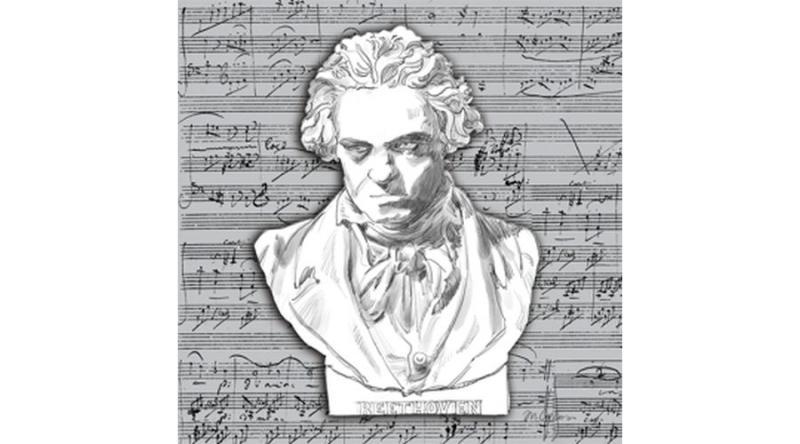 PPD.B1253507 Beethoven papírszalvéta 25x25cm, 20db-os