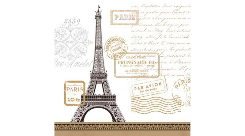 PPD.C1331931 Paris Rendezvous papírszalvéta 33x33cm,20db-os