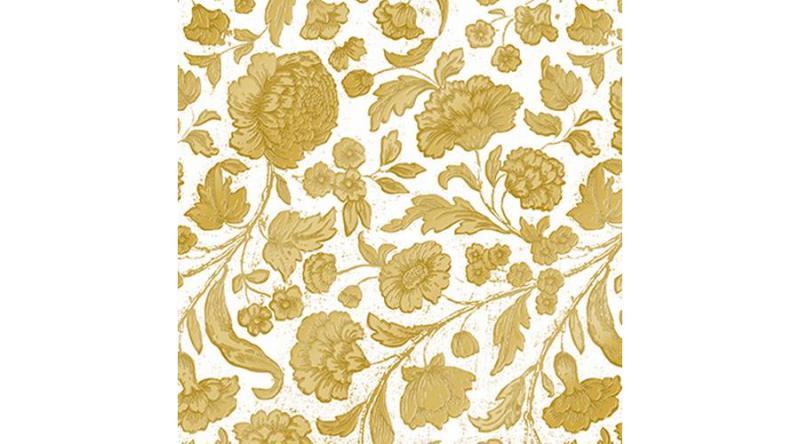 PPD.C1333108 George V.embossed white/gold dombornyomott papírszalvéta 33x33cm,15db-os