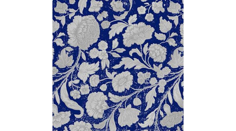 PPD.C1333111 George V.embossed blue/silver dombornyomott papírszalvéta 33x33cm,15db-os