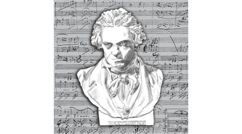 PPD.C1333507 Beethoven papírszalvéta 33x33cm,20db-os