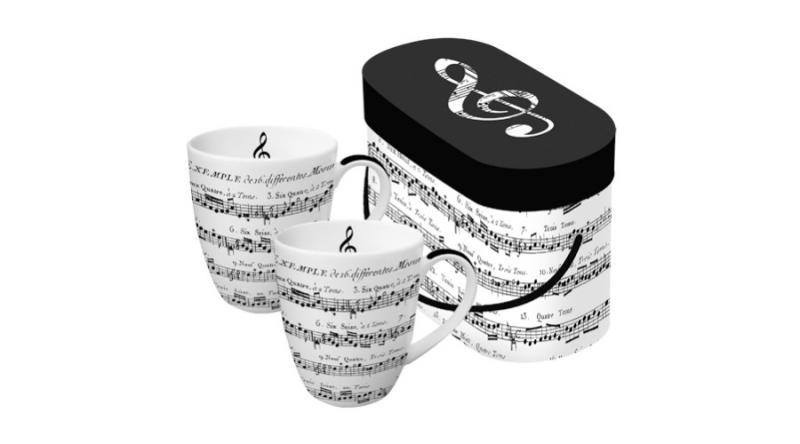 PPD.P601344 Porcelánbögre 0,35l dobozban 2db-os,Adagio