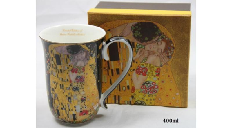 P.P.W8KL359-22390 Porcelánbögre 400ml,Klimt:The Kiss