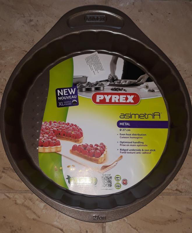 PYREX Asimetria bevonatos gyümölcstortaforma, 27 cm, 203181