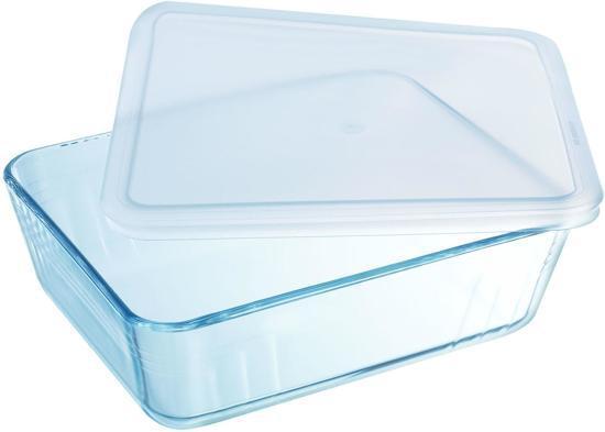Pyrex Cook&Freeze; téglalap sütőtál+műa.fedő, 19X14X4 cm, 0,8 liter, 203229