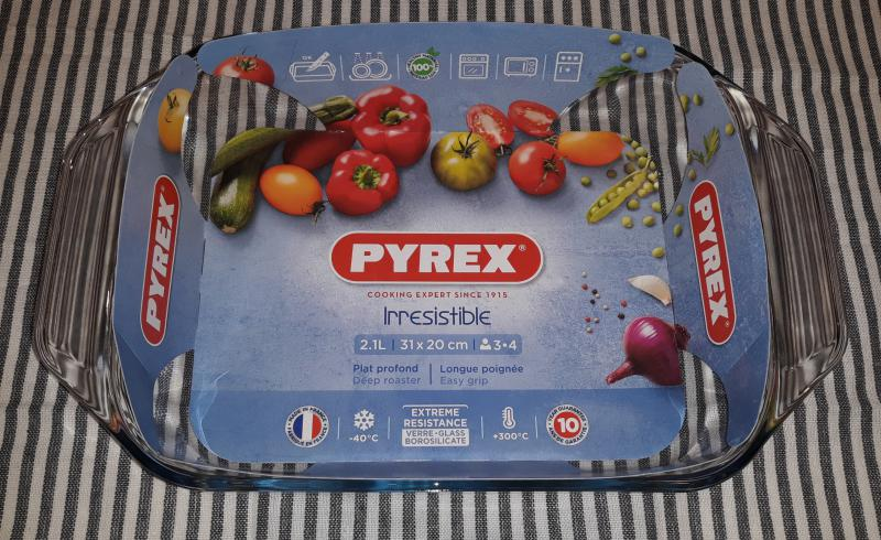 PYREX IRRESISTIBLE szögletes sütőtál, 31X20 cm, 2,1 liter, 203191