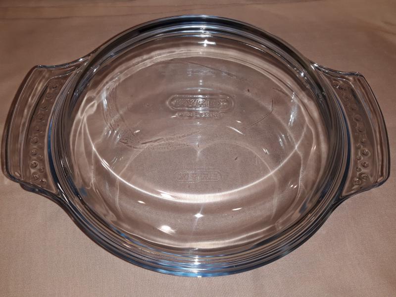 PYREX kerek sütőtál fedővel, 1,5+0,6 liter, 203014