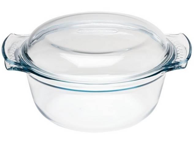 PYREX kerek sütőtál fedővel, 4,9L (3,5+1,4 liter), 203041