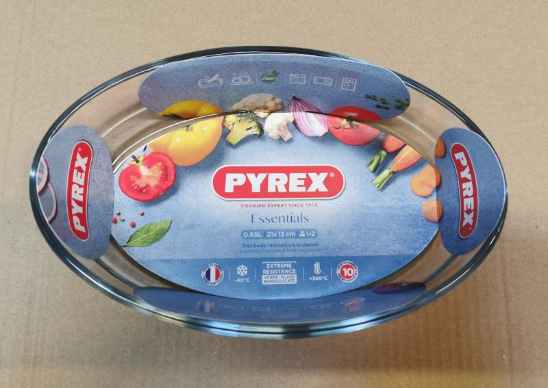 PYREX ovál csuszatál, 21X13 cm, 0,5 liter, 203179