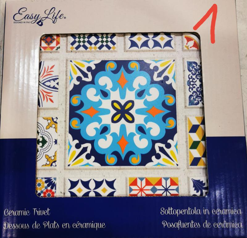 R2S Easy Life kerámia edényalátét, vegyes színek, 20X20 cm, 153404