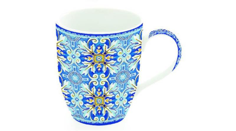 R2S Maiolica Blue porcelán bögre, 350 ml, 8001544093420