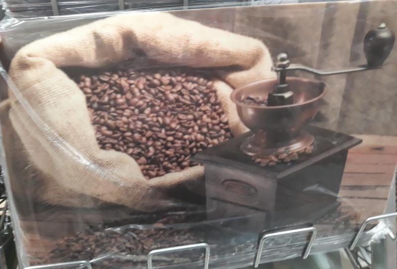 R2S műa. reggeliző alátét, 45X30 cm, Coffee Mill, R2Scoffeemill