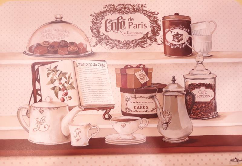 R2S műanyag Reggeliző alátét, CAFE DE PARIS, 45X30 cm ART CAD0350DE