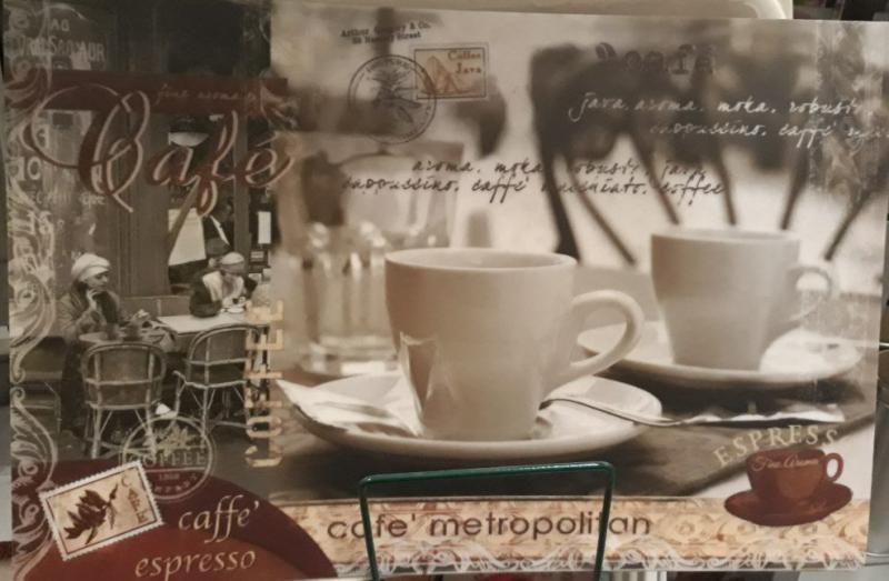 R2S műanyag reggeliző alátét, Cafe Metropolitan, 45X30 cm ART R0550CMT