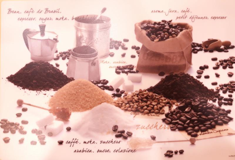 R2S műanyag Reggeliző alátét, CAFFE, 45X30 cm ART MOK0550DA