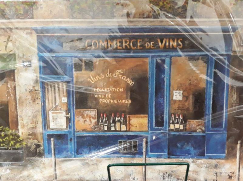 R2S műanyag reggeliző alátét, Commerce de Vins (borkereskedés), 45X30 cm, ART VDB0350D