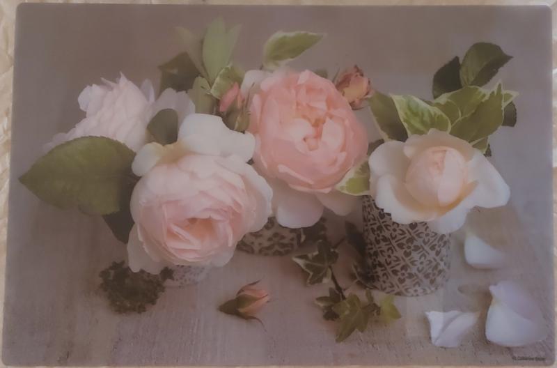 R2S műanyag reggeliző alátét Composition des roses, 45X30 cm, ART R0550CDE