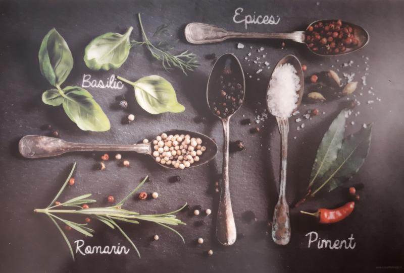 R2S műanyag reggeliző alátét, fűszeres, 45X30 cm, ART R0550LESE