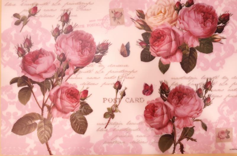 R2S műanyag Reggeliző alátét, Romantic Roses, 45X30 cm ART R0550RMR