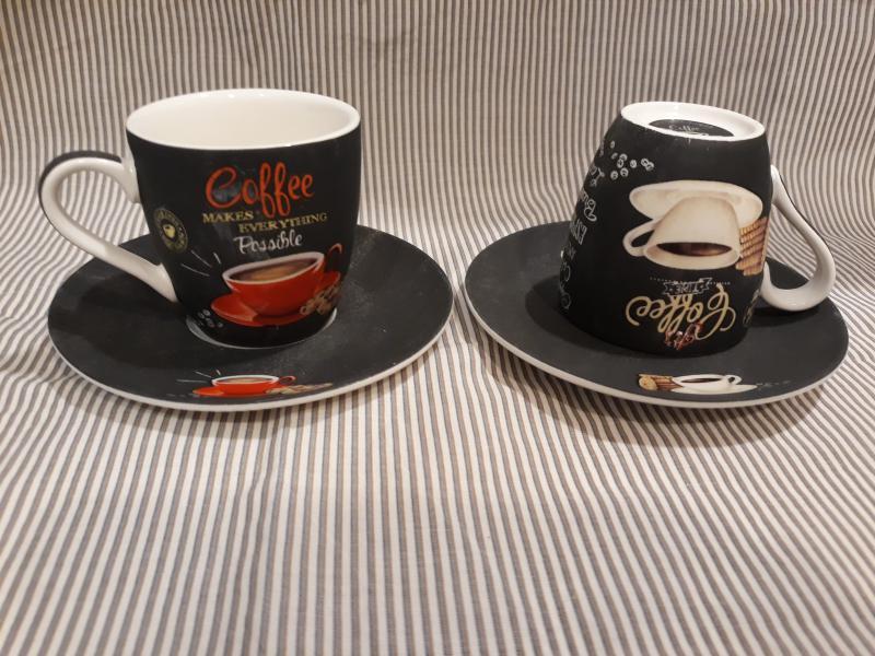 R2S.1015ICTT COFFEE TIME porcelán csésze+alj, 9 cl, 2 db, 153246