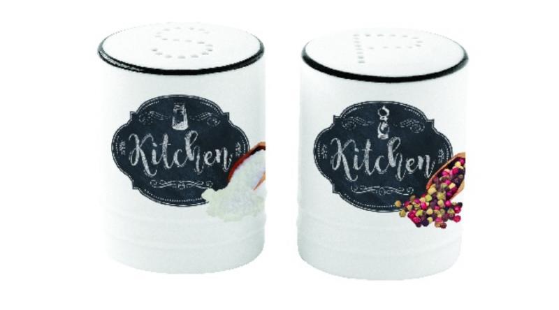 R2S.1611KIBK Porcelán só-borsszórószett dobozban, Kitchen Basics53338